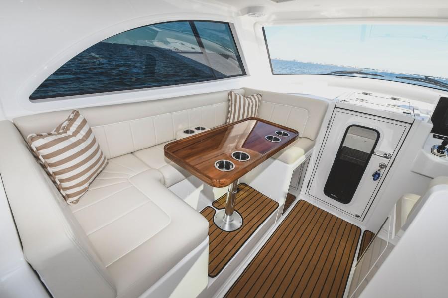 2021 38 Viking Billfish - Marie Beth - Command Deck Dinette