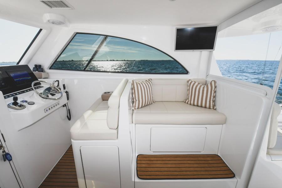2021 38 Viking Billfish - Marie Beth - Command Deck Sofa