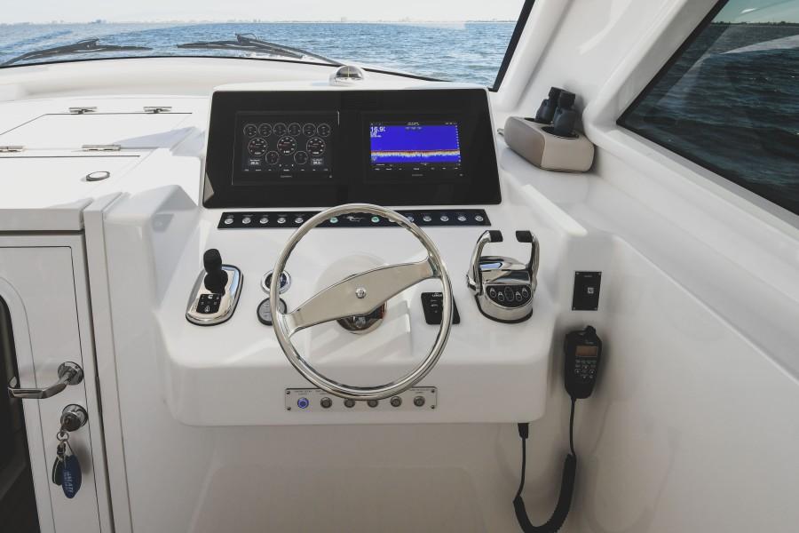 2021 38 Viking Billfish - Marie Beth - Command Deck Helm/Electronics