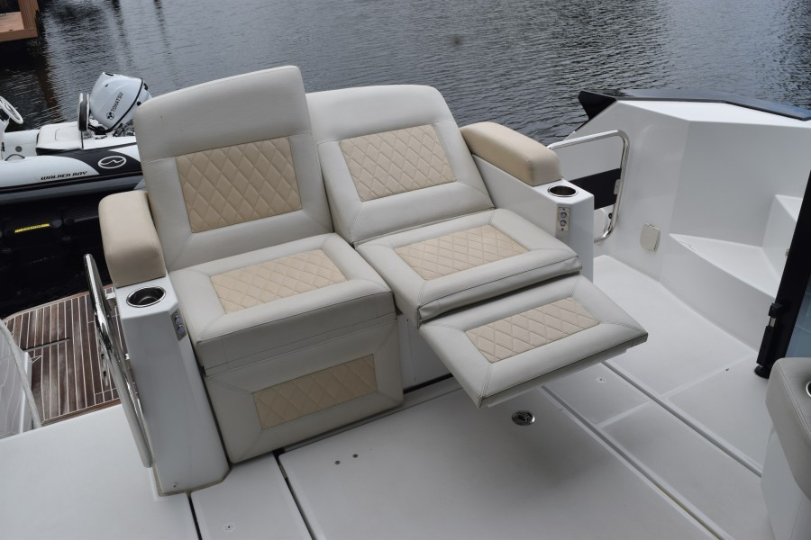 Electrical Recline aft deck seating