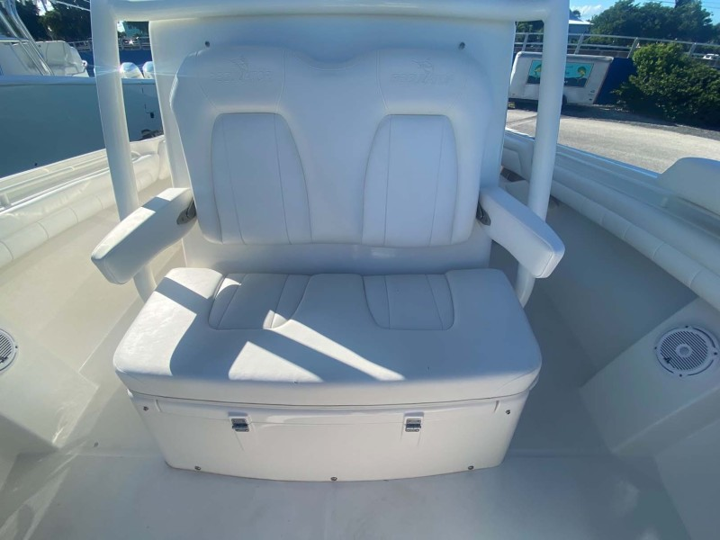 Center Console Seating with Armrests and Cup Holders