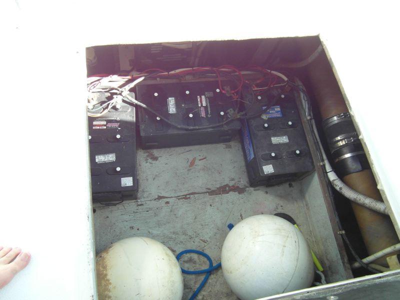 1995 Sportfish Batteries Below Cockpit