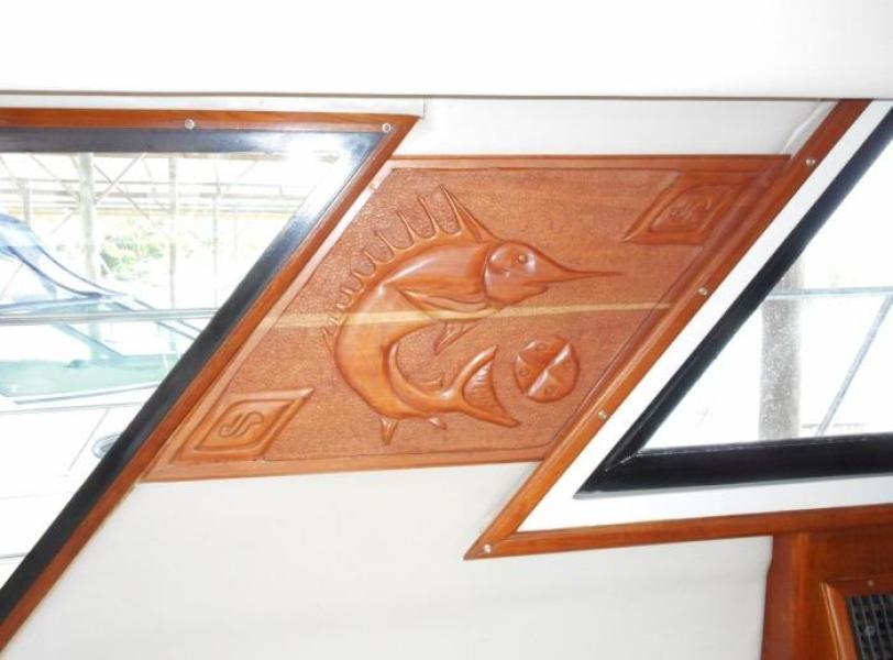 1988 Carver 4207 Aft Cabin Motor Yacht saloon custom decor