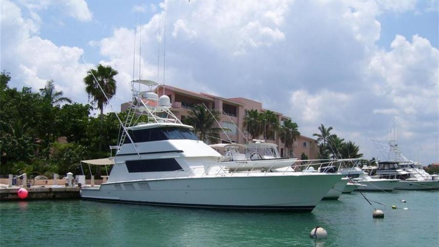 Photo of 65' Hatteras Enclosed Bridge Convertible SF 1997