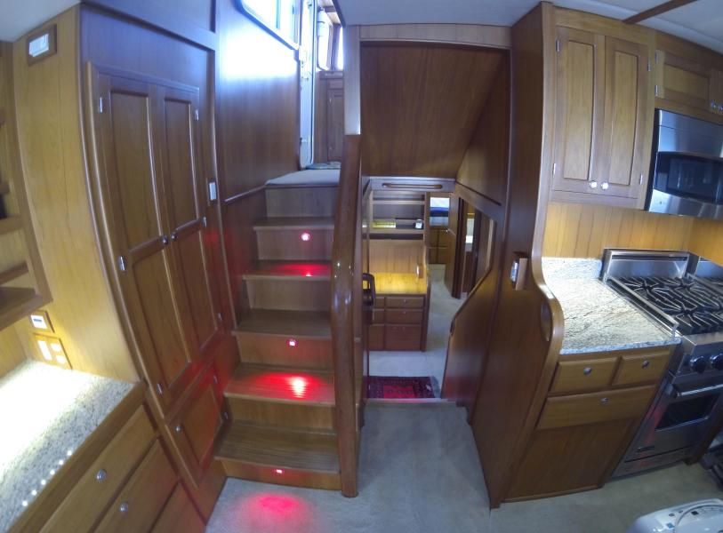 Stairs To Pilothouse Or Staterooms