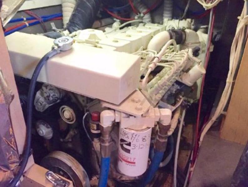 Starboard Engine under galley counter