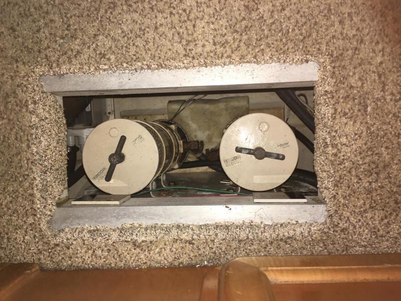 Racor dual filter in floor locker