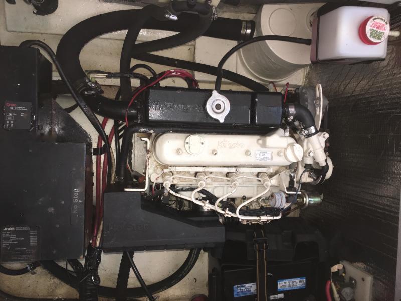 Generator in floor locker