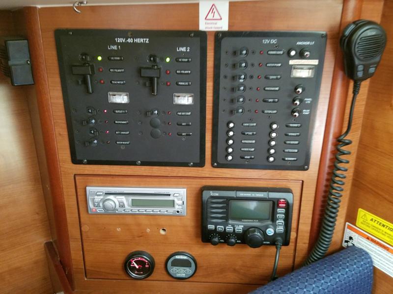 Hunter E33  Electrical Panel