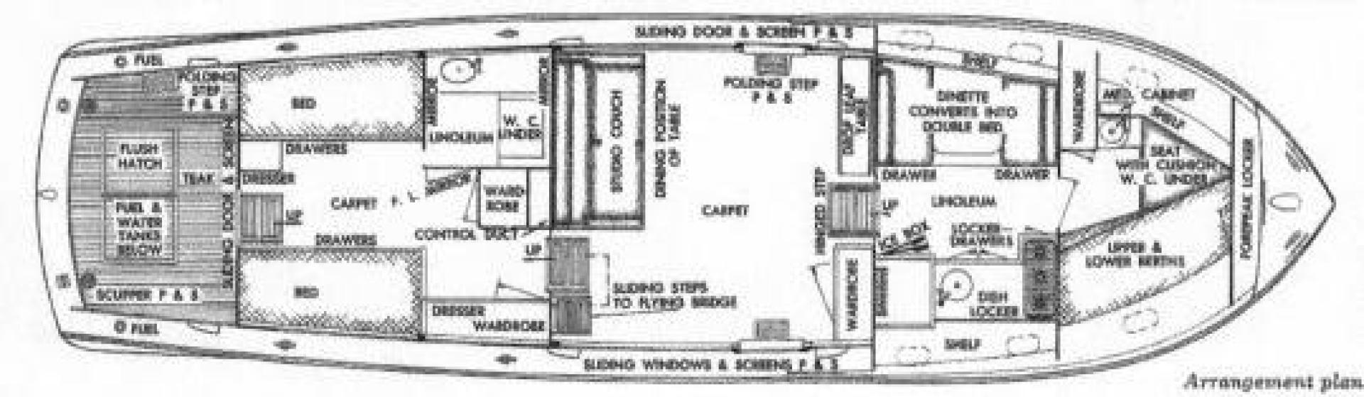 45 1953 Chris Craft Flybridge Motor Yacht Tampa Sales Wiring Diagram Layout