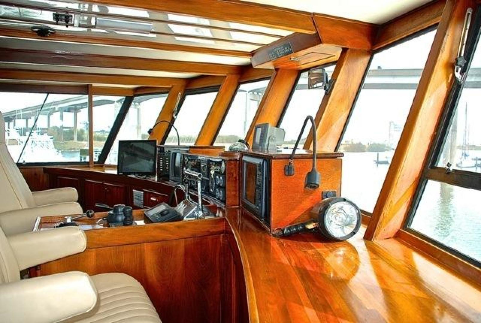Infinity-Cockpit Motor Yacht 2001-Dont Matter Houston-Texas-United States-Pilothouse Helm View 3-1005559 | Thumbnail