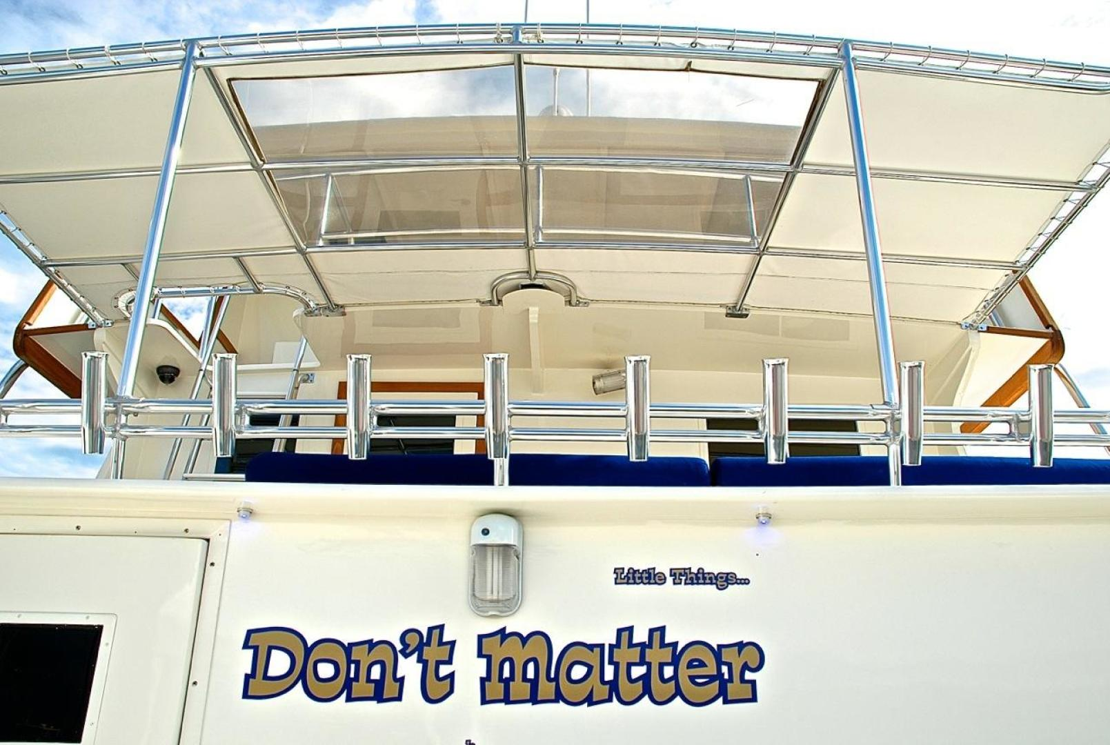 Infinity-Cockpit Motor Yacht 2001-Dont Matter Houston-Texas-United States-Bimini Sun Shade Lower View-1005569 | Thumbnail