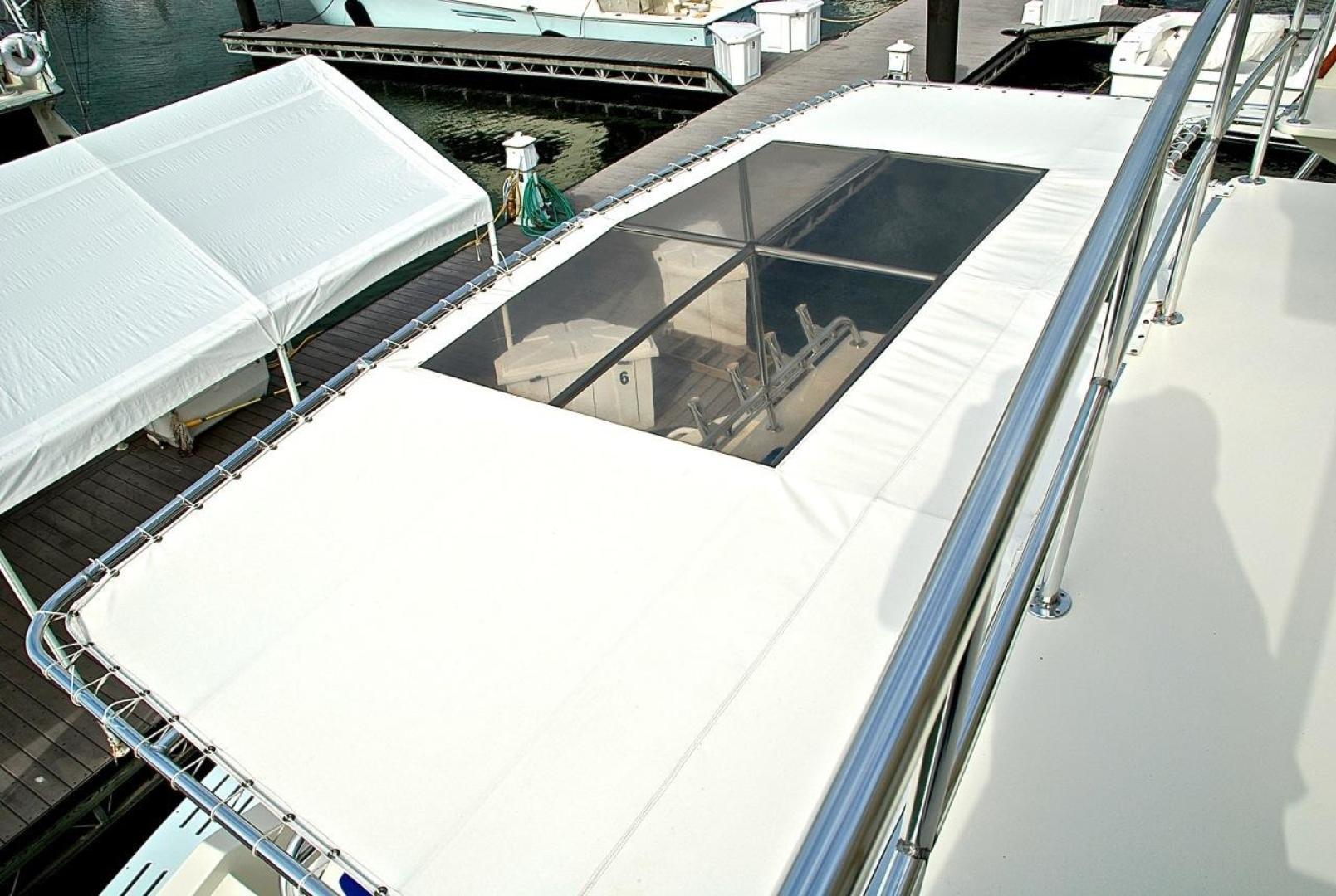 Infinity-Cockpit Motor Yacht 2001-Dont Matter Houston-Texas-United States-Bimini Sun Shade Upper View-1005568 | Thumbnail
