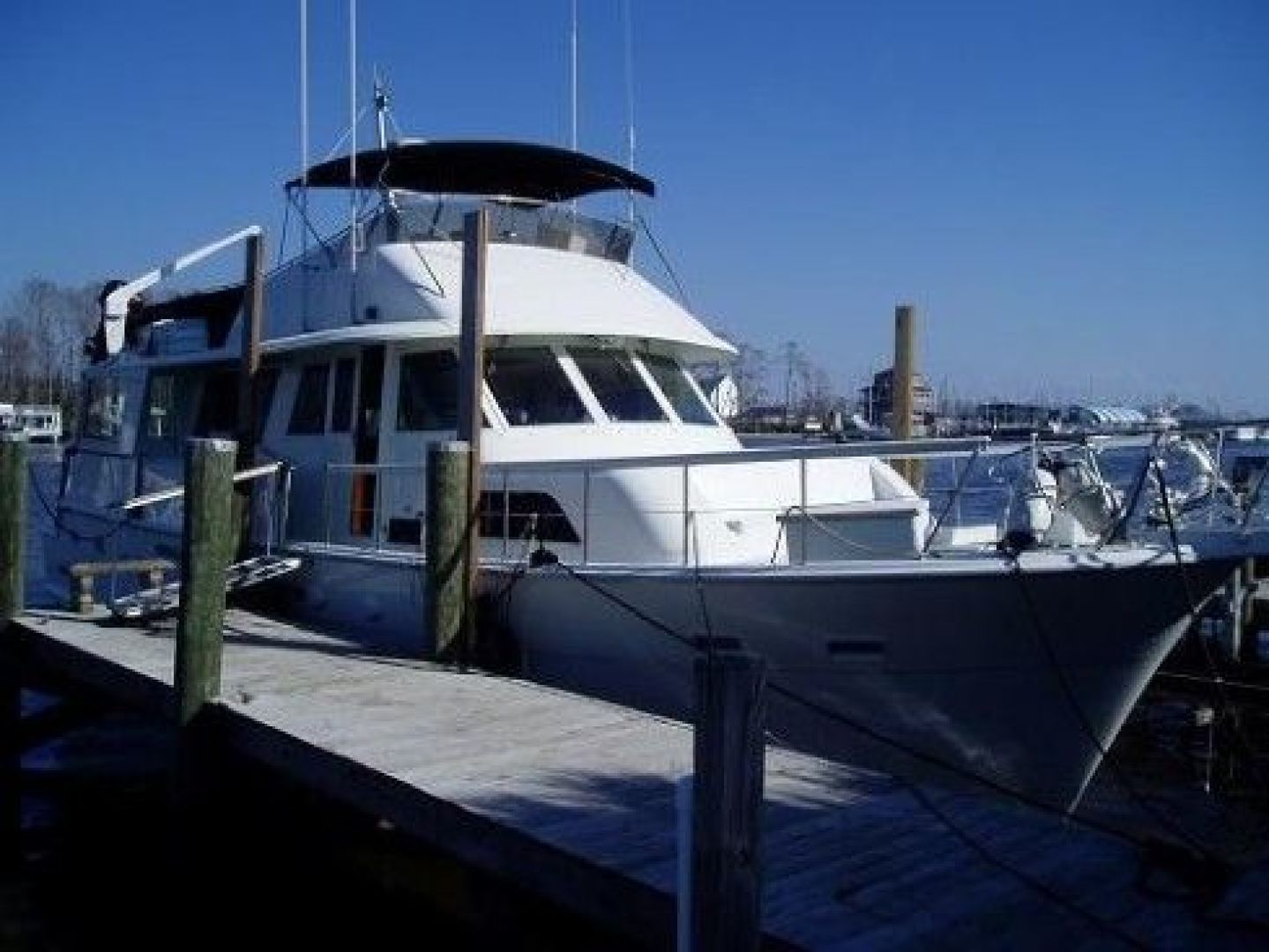 Hatteras-Cockpit Motor Yacht 1981 -Madisonville-Louisiana-United States-At the Dock-200724 | Thumbnail