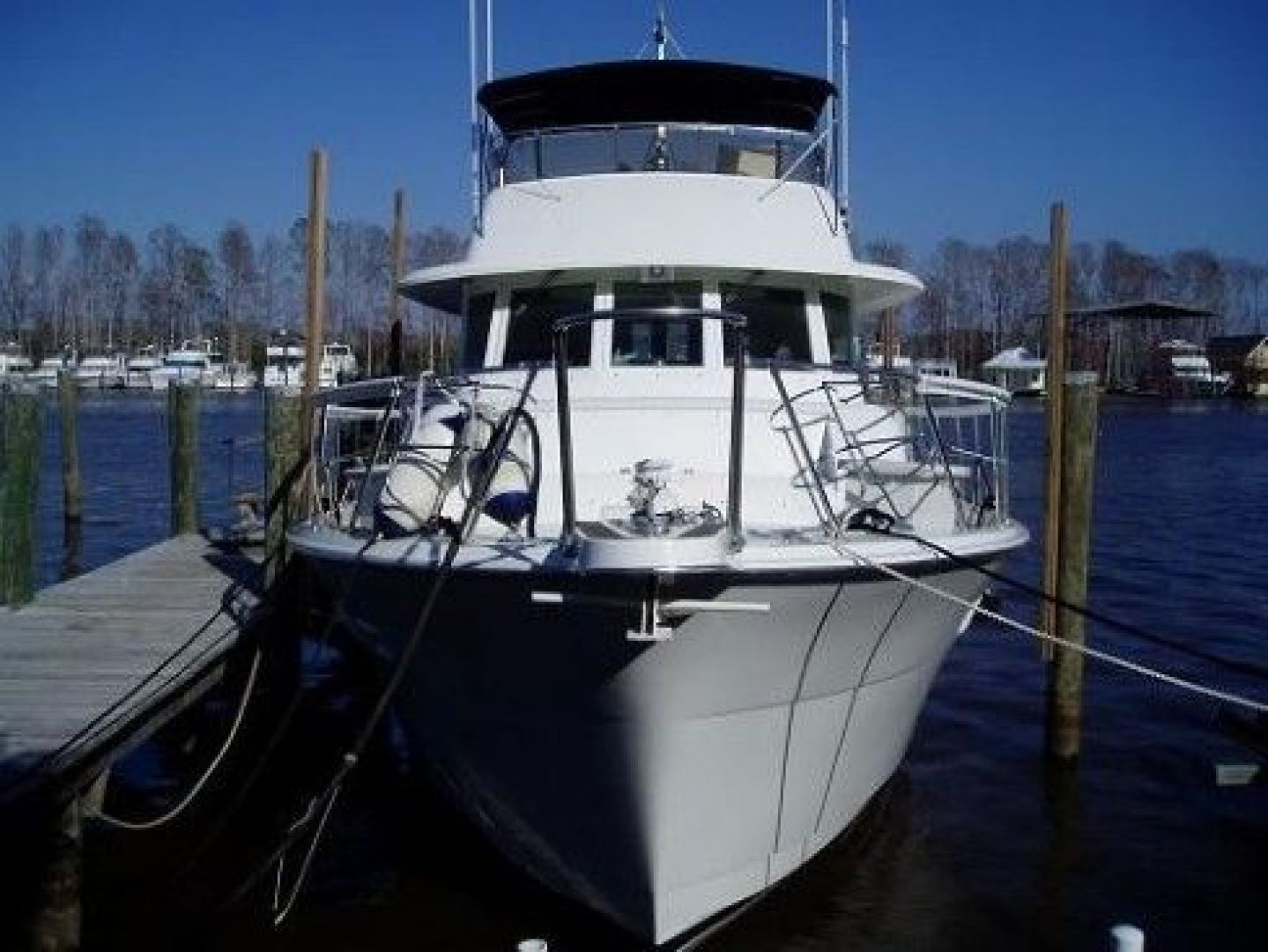 Hatteras-Cockpit Motor Yacht 1981 -Madisonville-Louisiana-United States-Bow View-200715 | Thumbnail