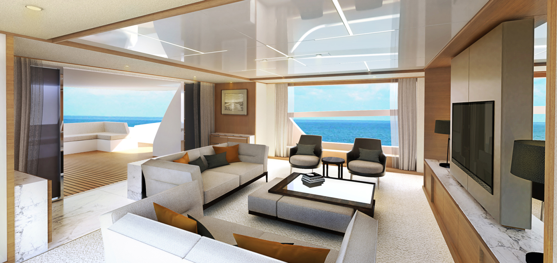 Picture Of: 115' Johnson SKYLOUNGE w/FB w/ON-DECK MASTER 2022 Yacht For Sale | 2 of 23