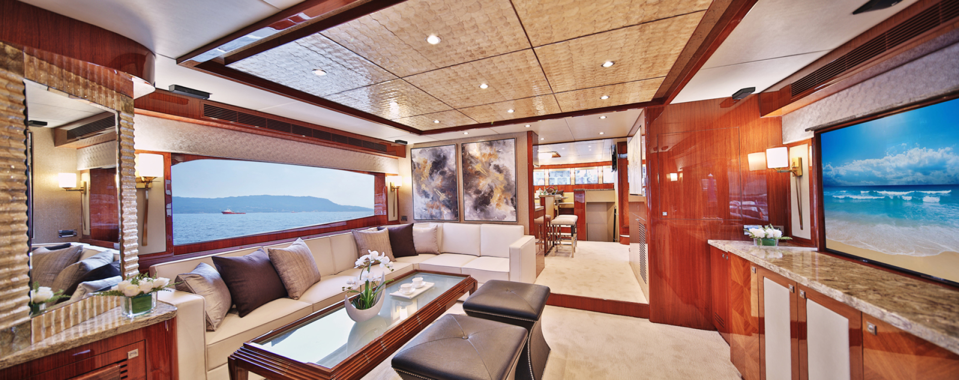 Picture Of: 80' Johnson Flybridge w/Hydraulic Platform 2019 Yacht For Sale | 2 of 51