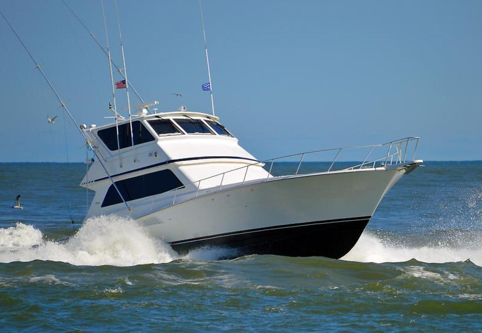 Picture Of: 58' Viking 58 Enclosed Bridge Convertible 1997 Yacht For Sale   1 of 75