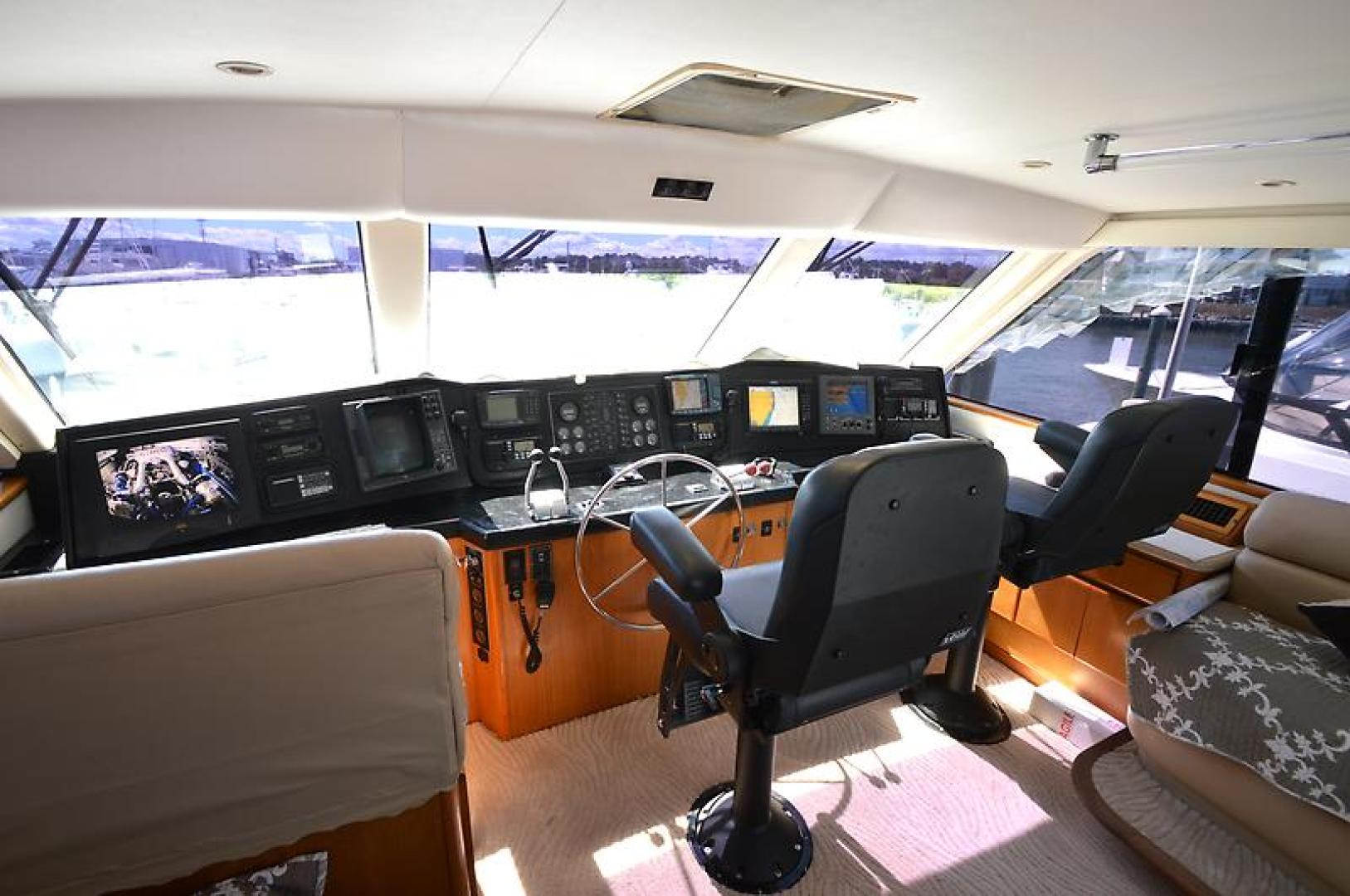Picture Of: 58' Viking 58 Enclosed Bridge Convertible 1997 Yacht For Sale   2 of 75