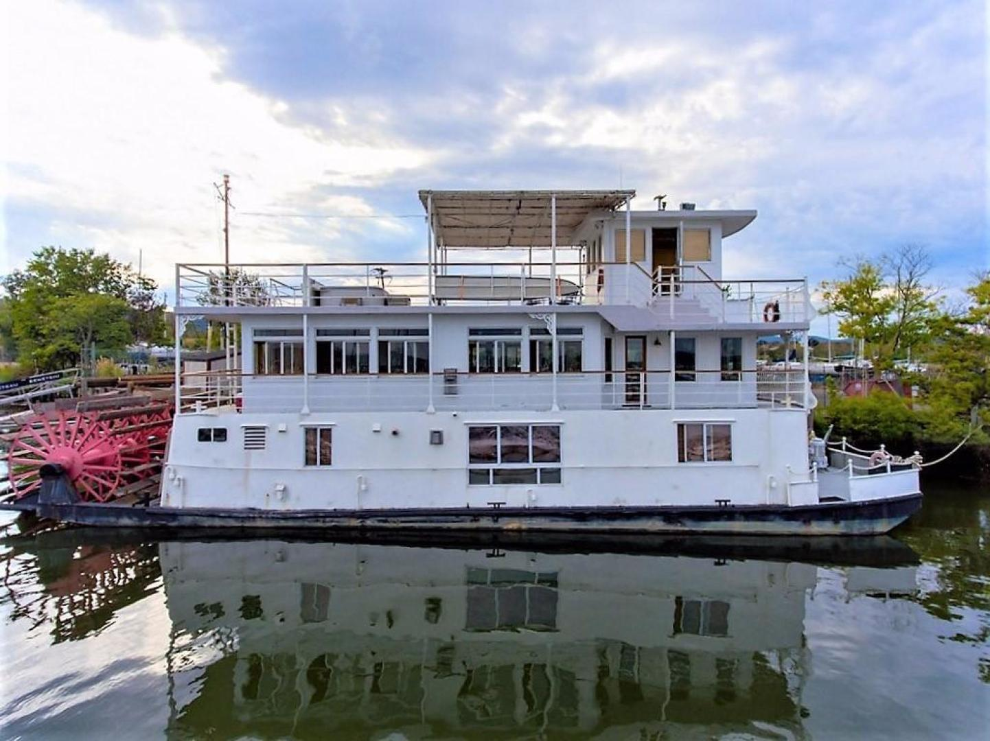 Picture Of: 79' AC Mcleod Custom Sternwheeler House Barge 1982 Yacht For Sale | 1 of 39