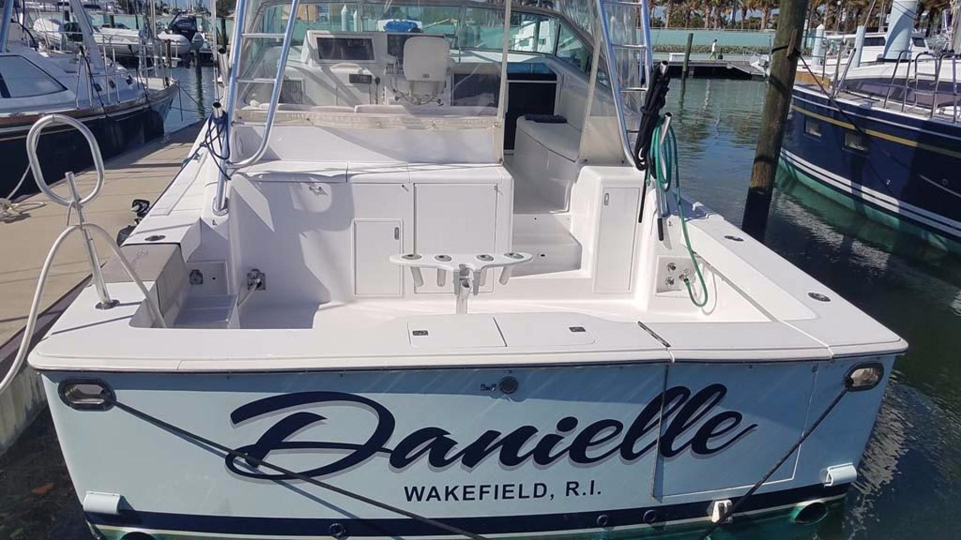 Viking-Open 43 1995-Miss Danielle Palm Beach-Florida-United States-Transom-928499 | Thumbnail