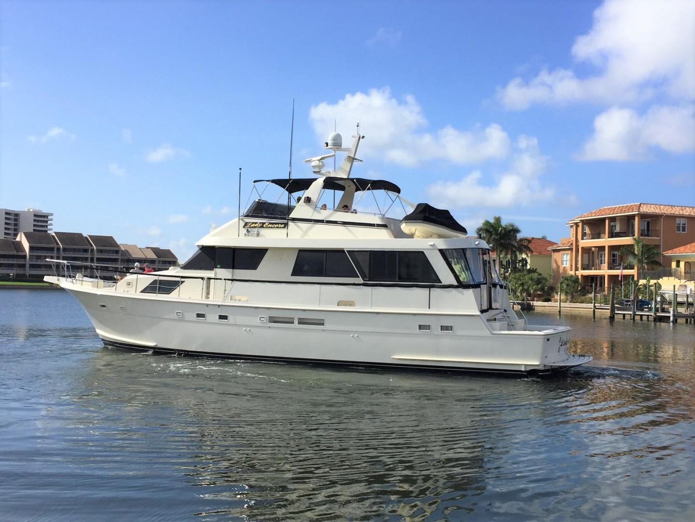Hatteras-67 Cockpit Motor Yacht 1988-Lady Encore Saint Petersburg-Florida-United States-Side Profile-926167 | Thumbnail