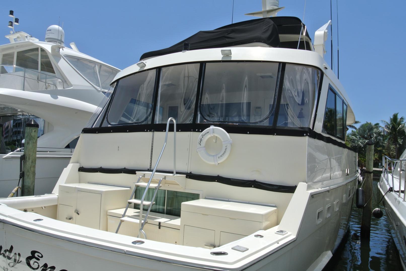 Hatteras-67-Cockpit-Motor-Yacht-1988-Lady-Encore-Saint-Petersburg-Florida-United-States-Aft-926171