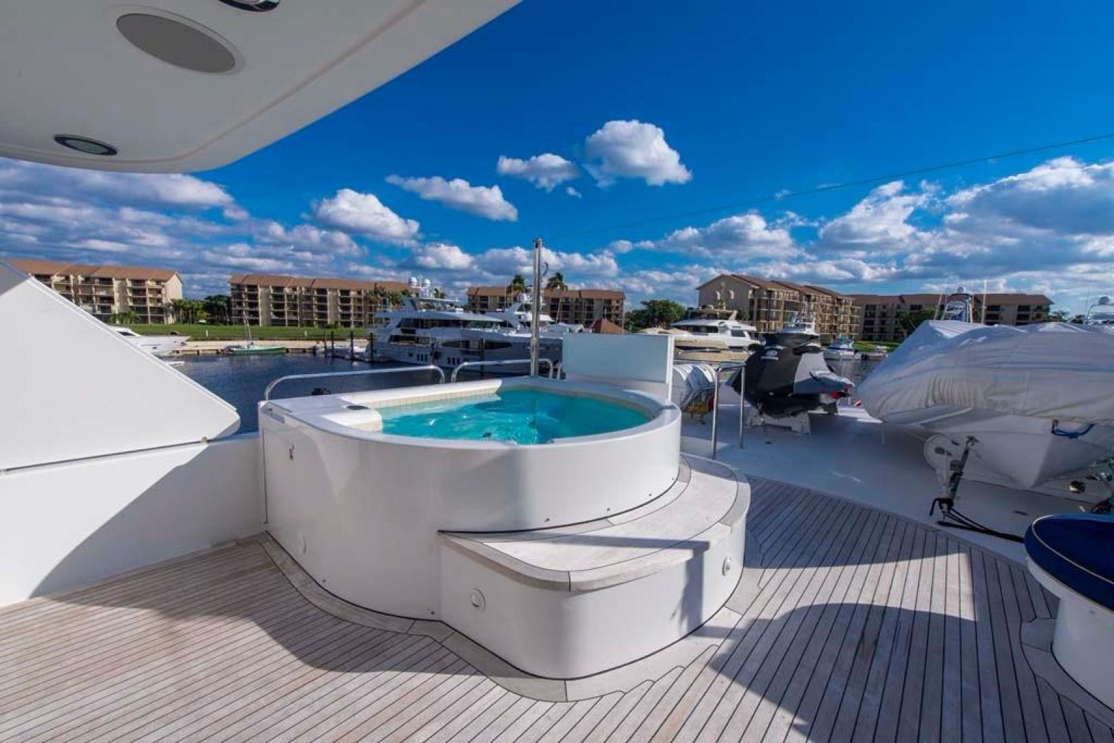 Westport-Tri-Deck 2003-Vision Jupiter-Florida-United States-Sky Lounge Aft Deck Jacuzzi-370718 | Thumbnail
