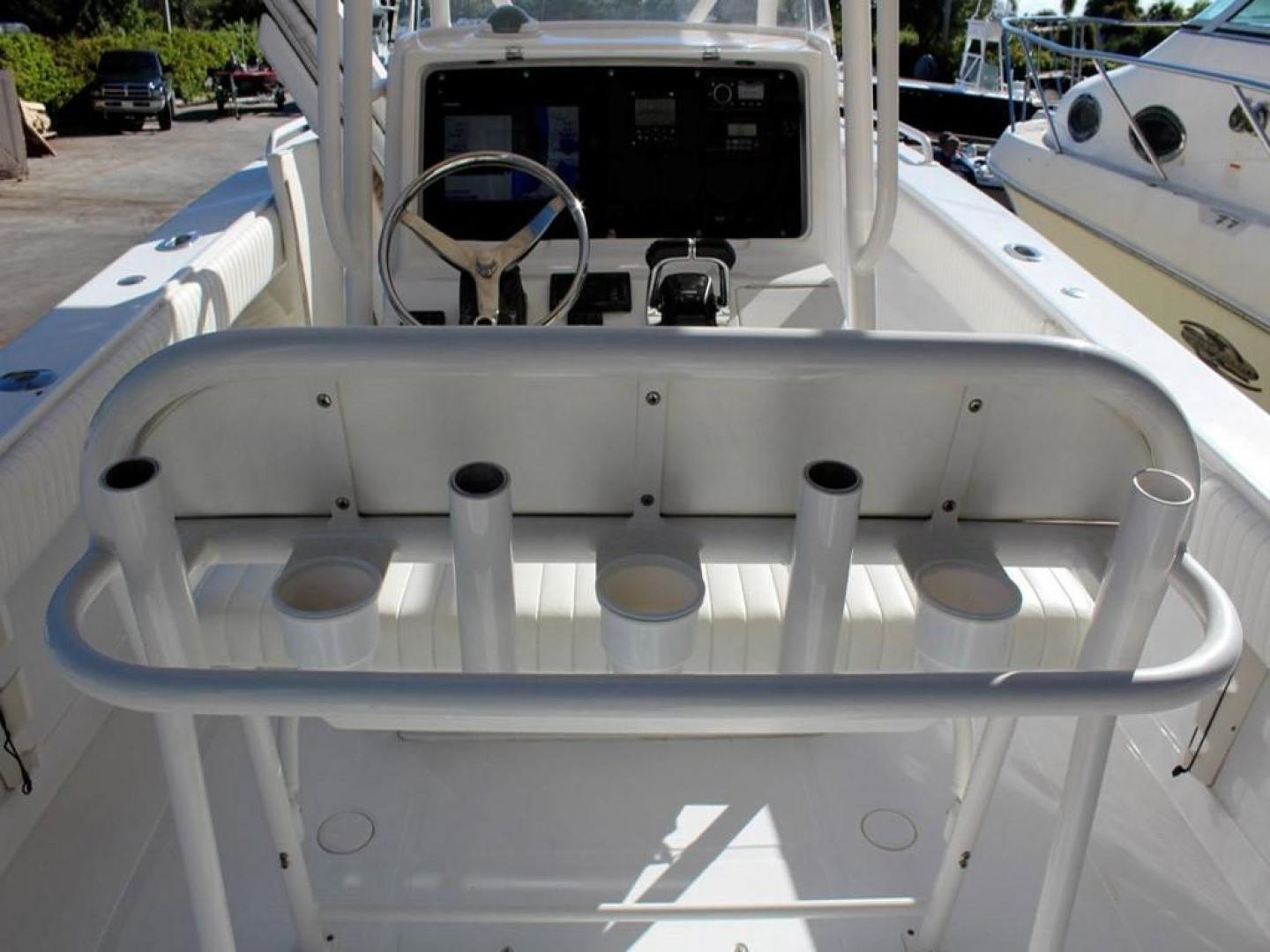 Jupiter-31 Center Console 2005-Lucky Duck Boynton Beach-Florida-United States-Helm Station-279136 | Thumbnail