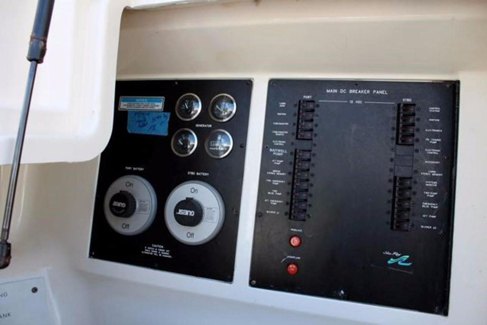 Sea Ray-480 Sedan Bridge 1999 -Pompano Beach-Florida-United States-Cockpit Electrical Panel-370421 | Thumbnail