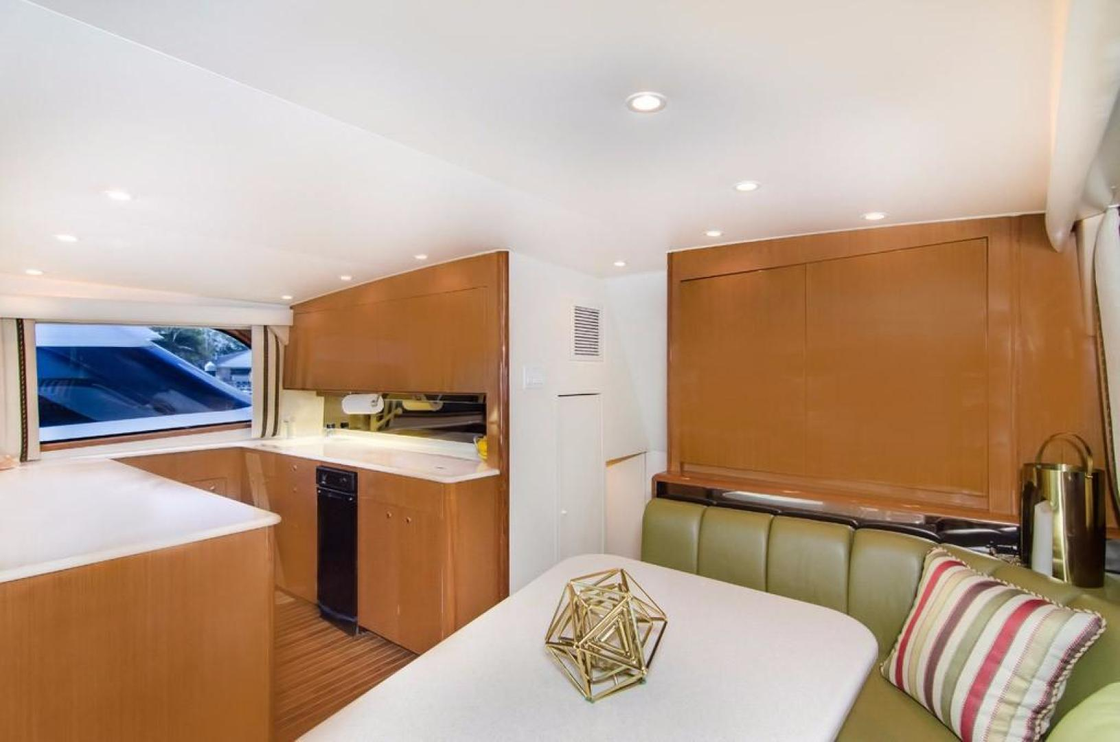 Viking-Enclosed Bridge 2001-Following Grace North Palm Beach-Florida-United States-Dinette and Galley-370443   Thumbnail
