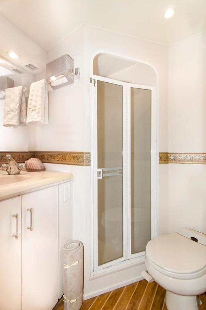 Viking-Enclosed Bridge 2001-Following Grace North Palm Beach-Florida-United States-Guest Stateroom Head and Shower-370467   Thumbnail