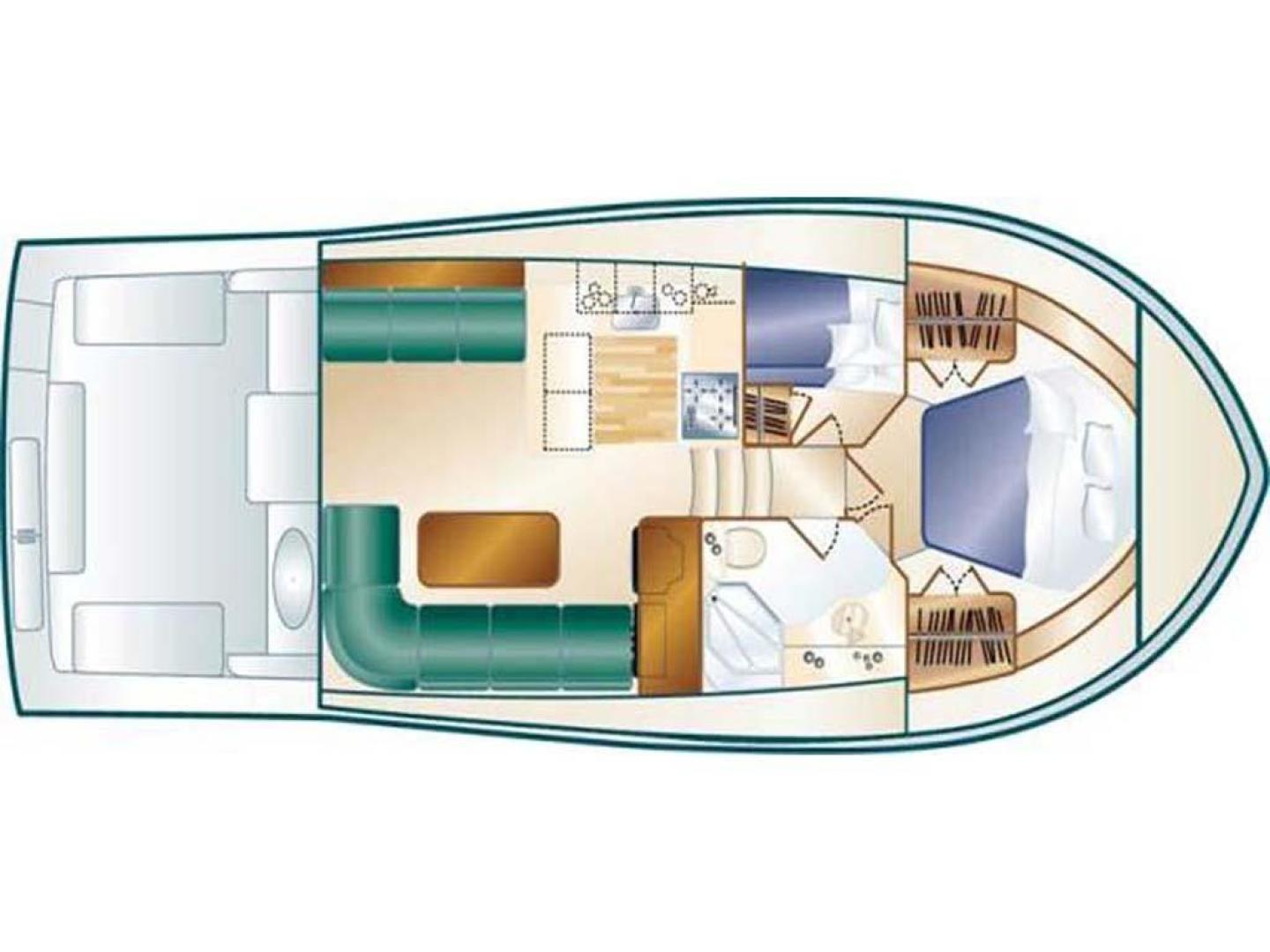 Luhrs-40 Convertible 1999-Seagar Time Pompano Beach-Florida-United States-Layout Drawing-923927 | Thumbnail
