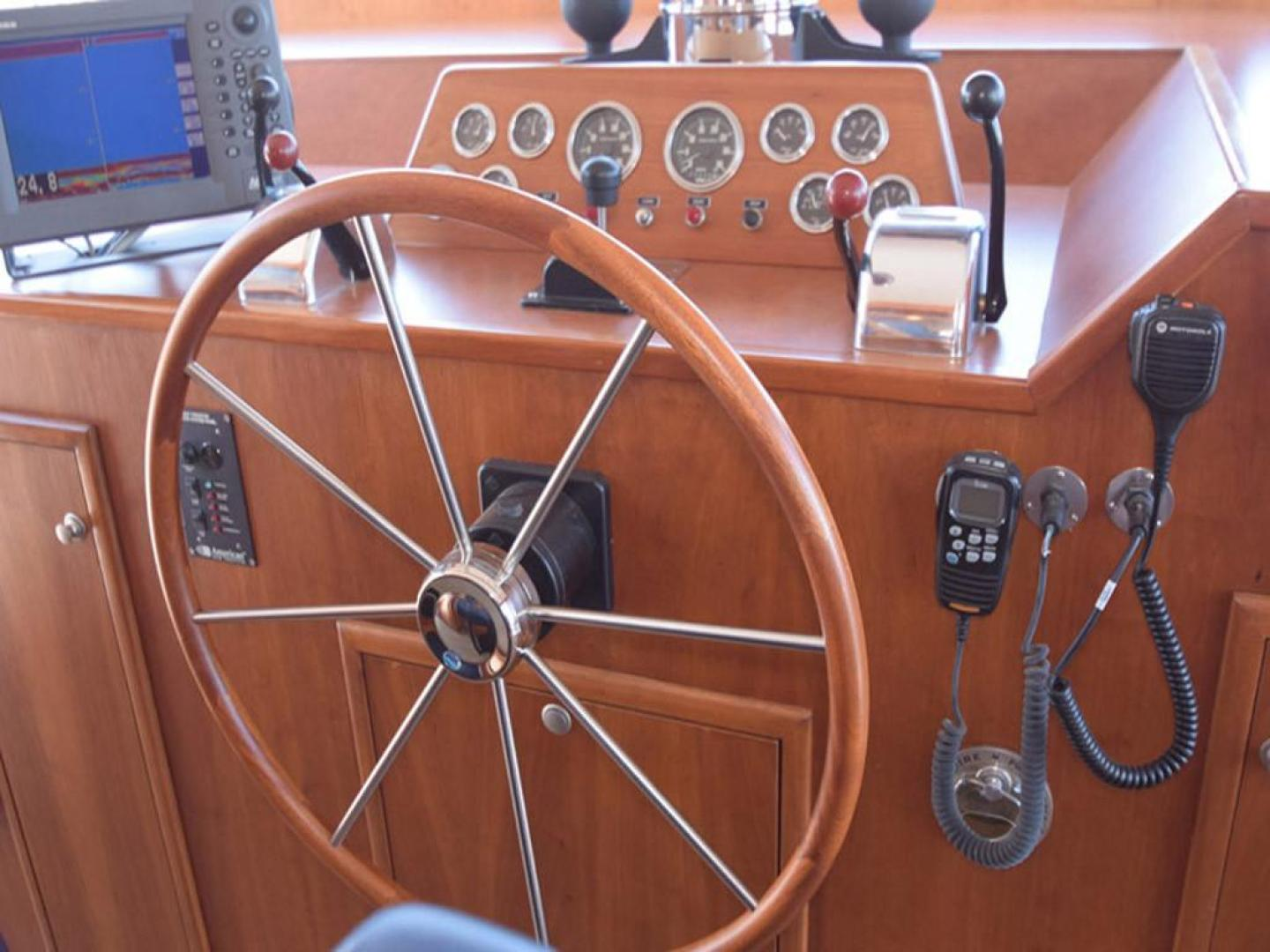 Burger-Raised Pilothouse 1958-Diane Ft. Lauderdale-Florida-United States-Helm Detail-369351 | Thumbnail