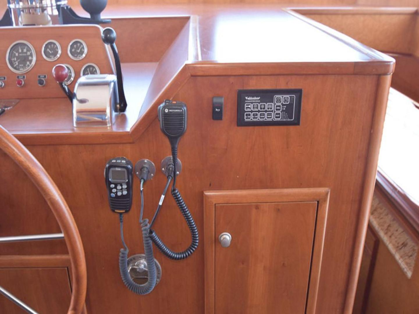 Burger-Raised Pilothouse 1958-Diane Ft. Lauderdale-Florida-United States-Helm Detail to Starboard-369355 | Thumbnail