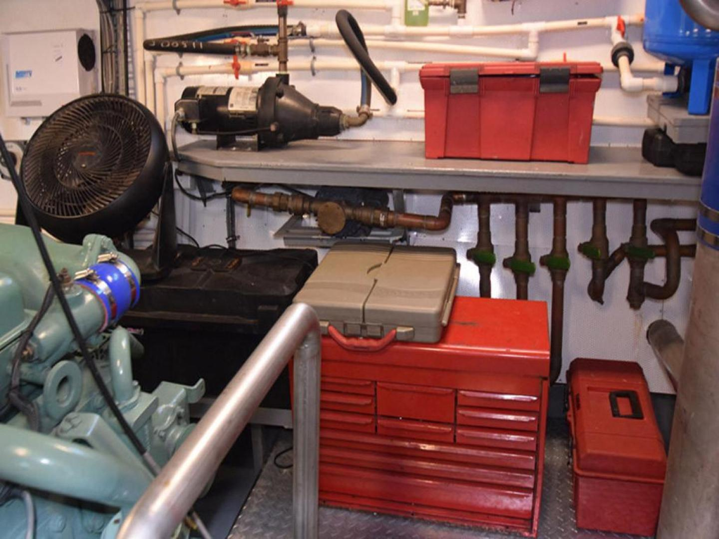 Burger-Raised Pilothouse 1958-Diane Ft. Lauderdale-Florida-United States-Workbench in Engine Room-369369 | Thumbnail