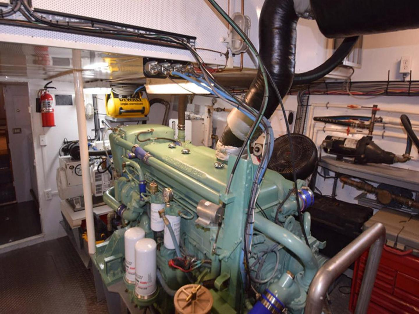 Burger-Raised Pilothouse 1958-Diane Ft. Lauderdale-Florida-United States-Starboard Engine-369361 | Thumbnail