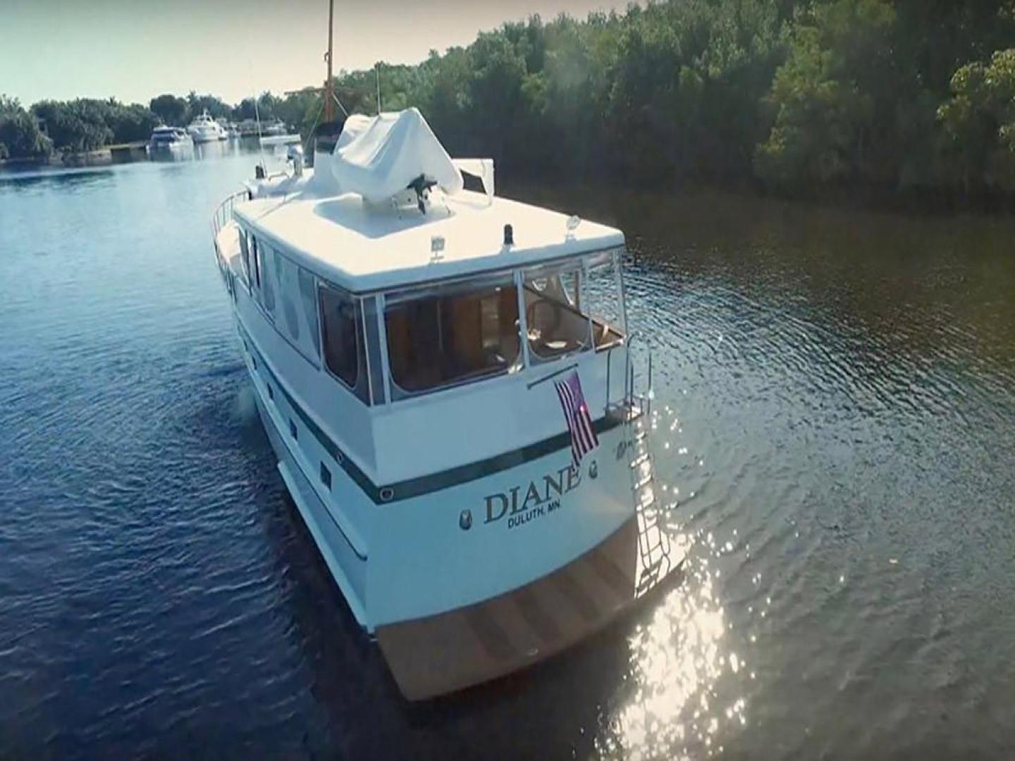 Burger-Raised Pilothouse 1958-Diane Ft. Lauderdale-Florida-United States-Stern View-369399 | Thumbnail