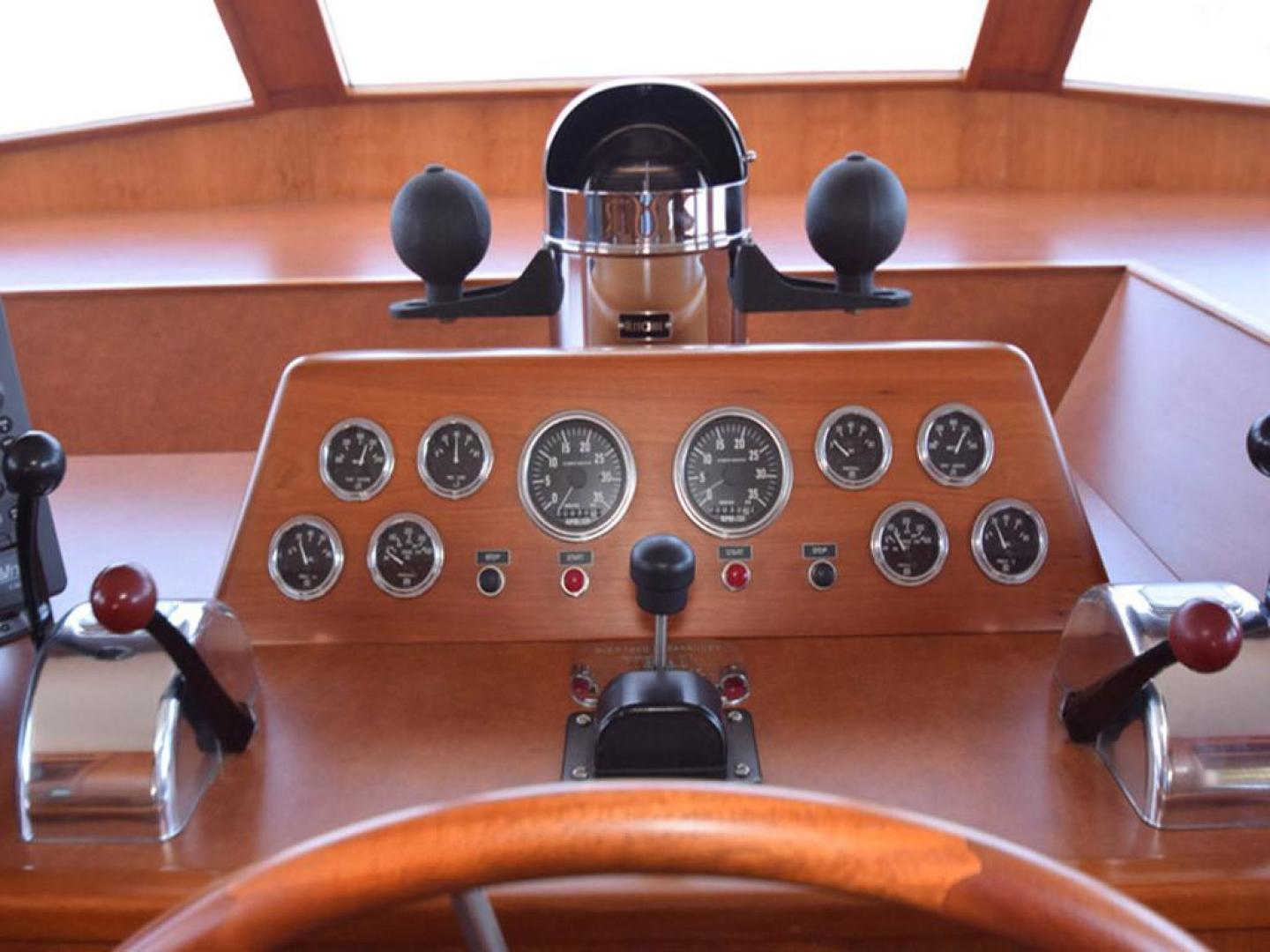 Burger-Raised Pilothouse 1958-Diane Ft. Lauderdale-Florida-United States-Helm with Compass Rose-369353 | Thumbnail