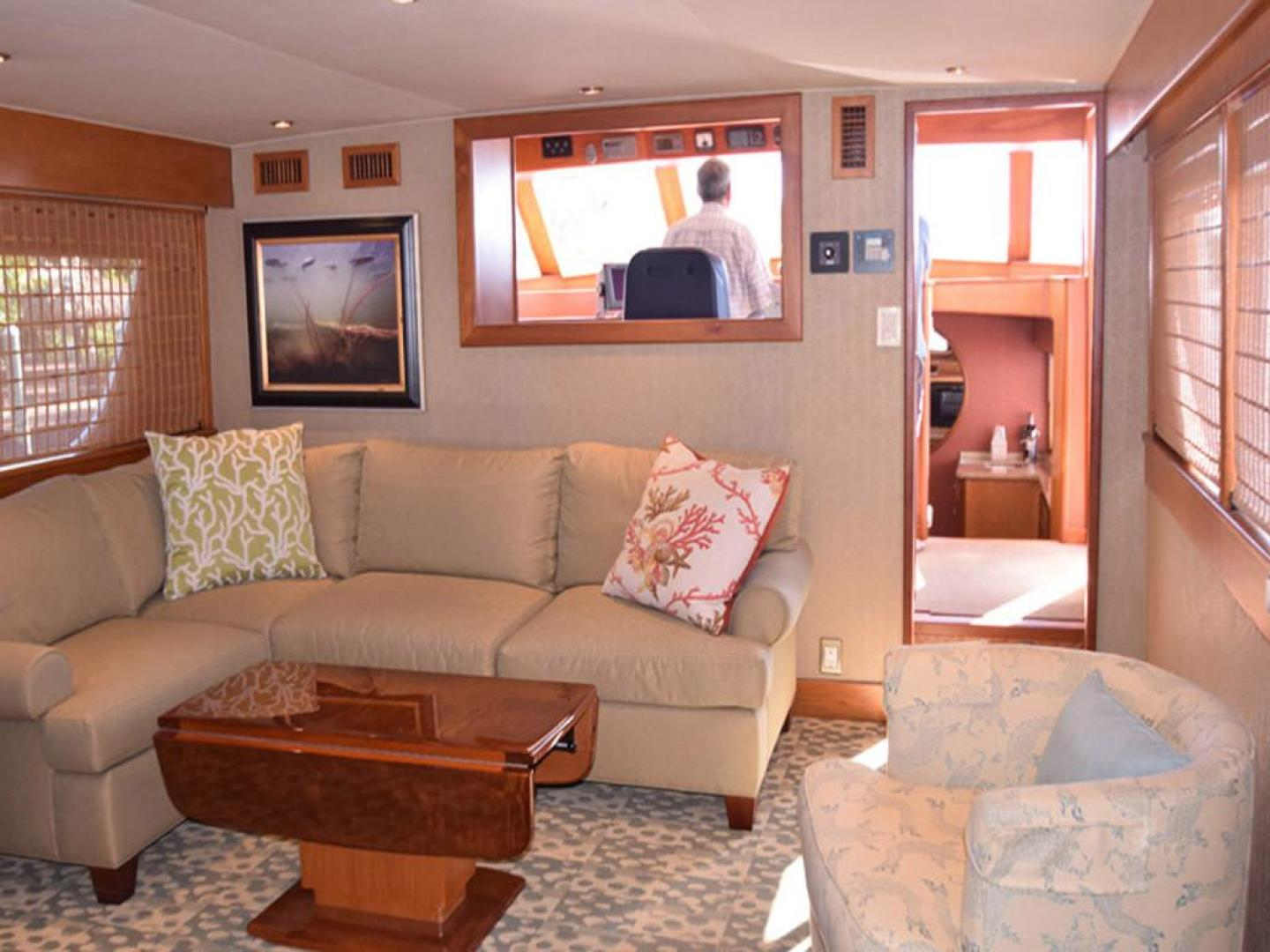Burger-Raised Pilothouse 1958-Diane Ft. Lauderdale-Florida-United States-Main Salon to Wheelhouse Peeking into Galley-369321 | Thumbnail