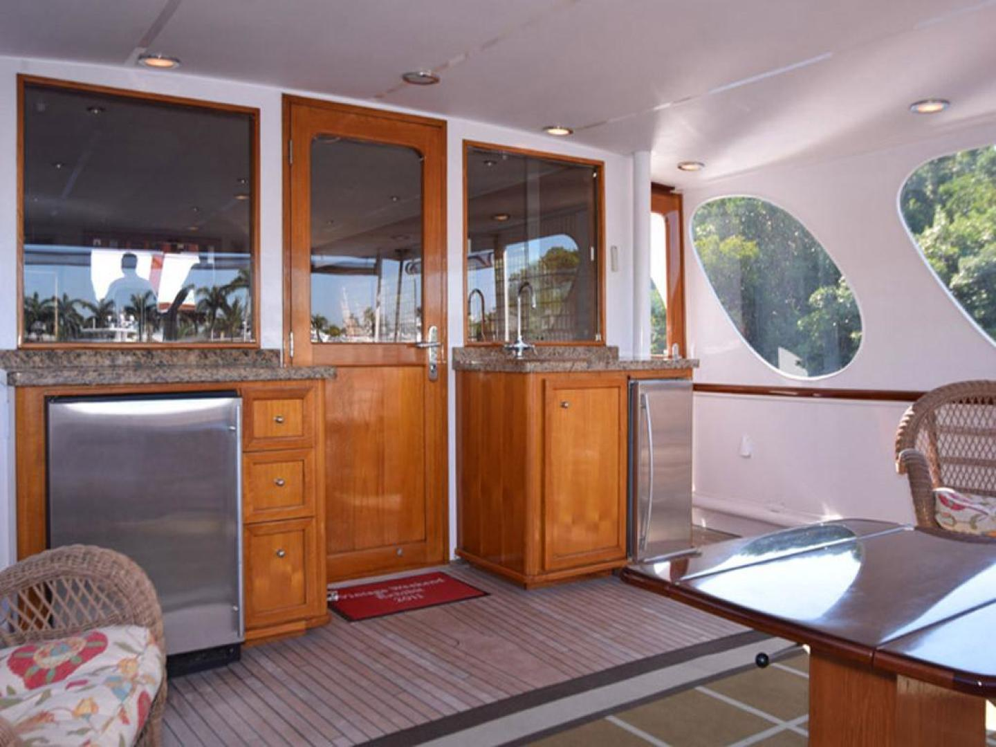 Burger-Raised Pilothouse 1958-Diane Ft. Lauderdale-Florida-United States-Aft Deck with Bulkhead-369317 | Thumbnail