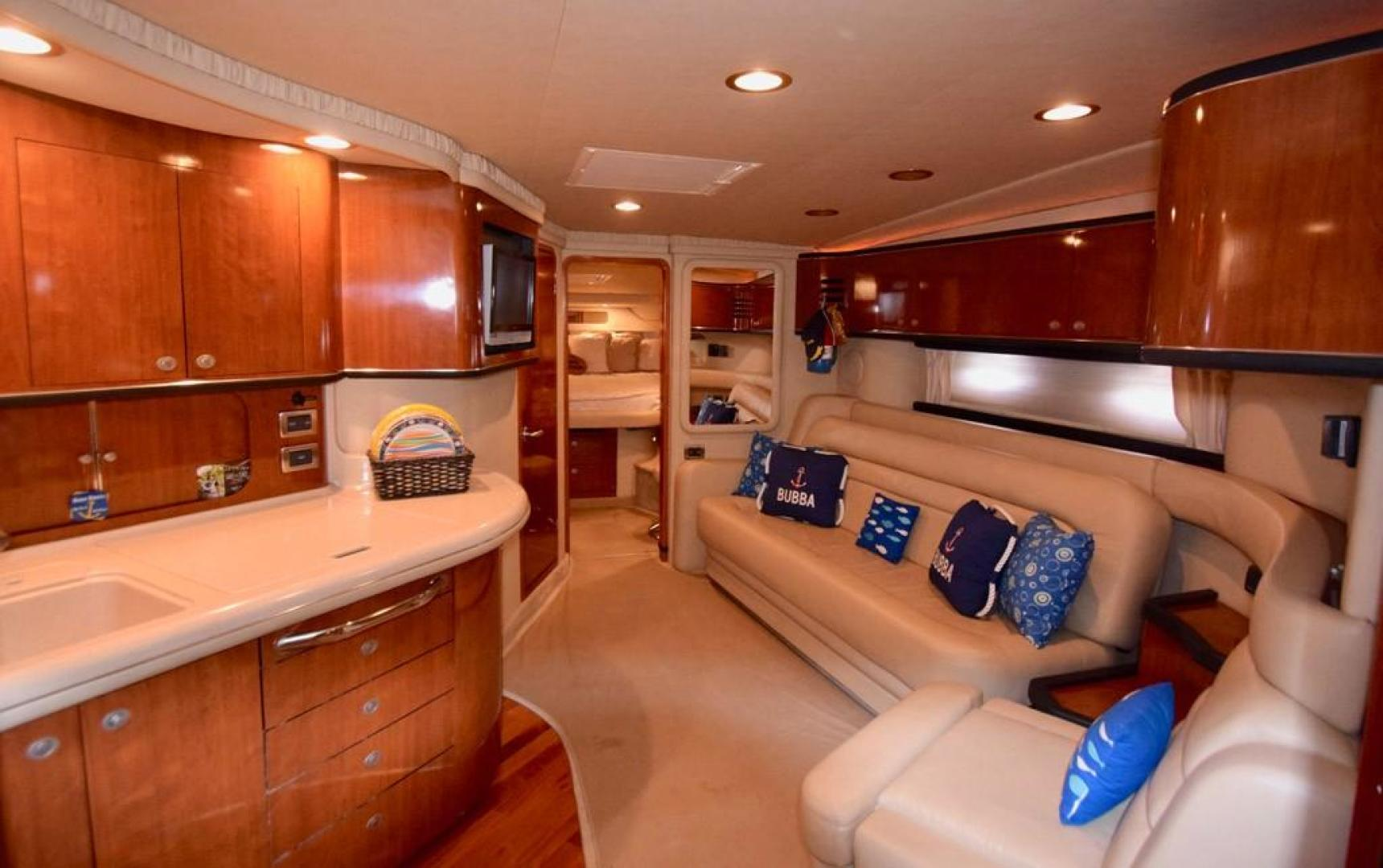 Sea Ray-Sundancer 2004-Bubba The Final Version? Dania Beach-Florida-United States-Main Salon with Galley and Starboard Settee-368971 | Thumbnail