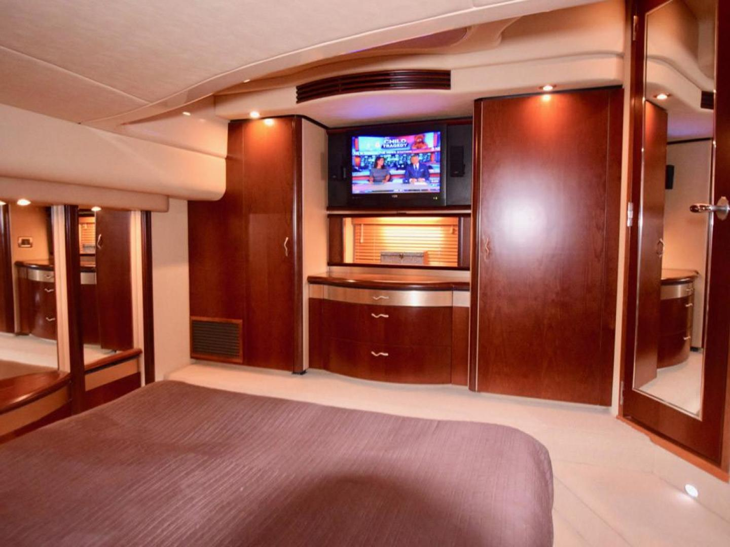 Sea Ray-550 Sedan Bridge 2005-March Madness Pompano Beach-Florida-United States-Owners Suite with Closets and TV-277856 | Thumbnail