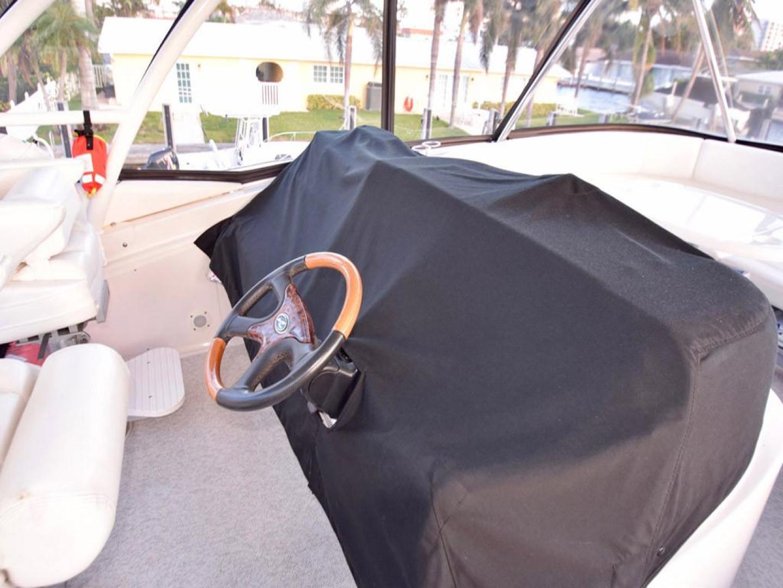 Sea Ray-550 Sedan Bridge 2005-March Madness Pompano Beach-Florida-United States-Flybridge Helm Cover-277898 | Thumbnail