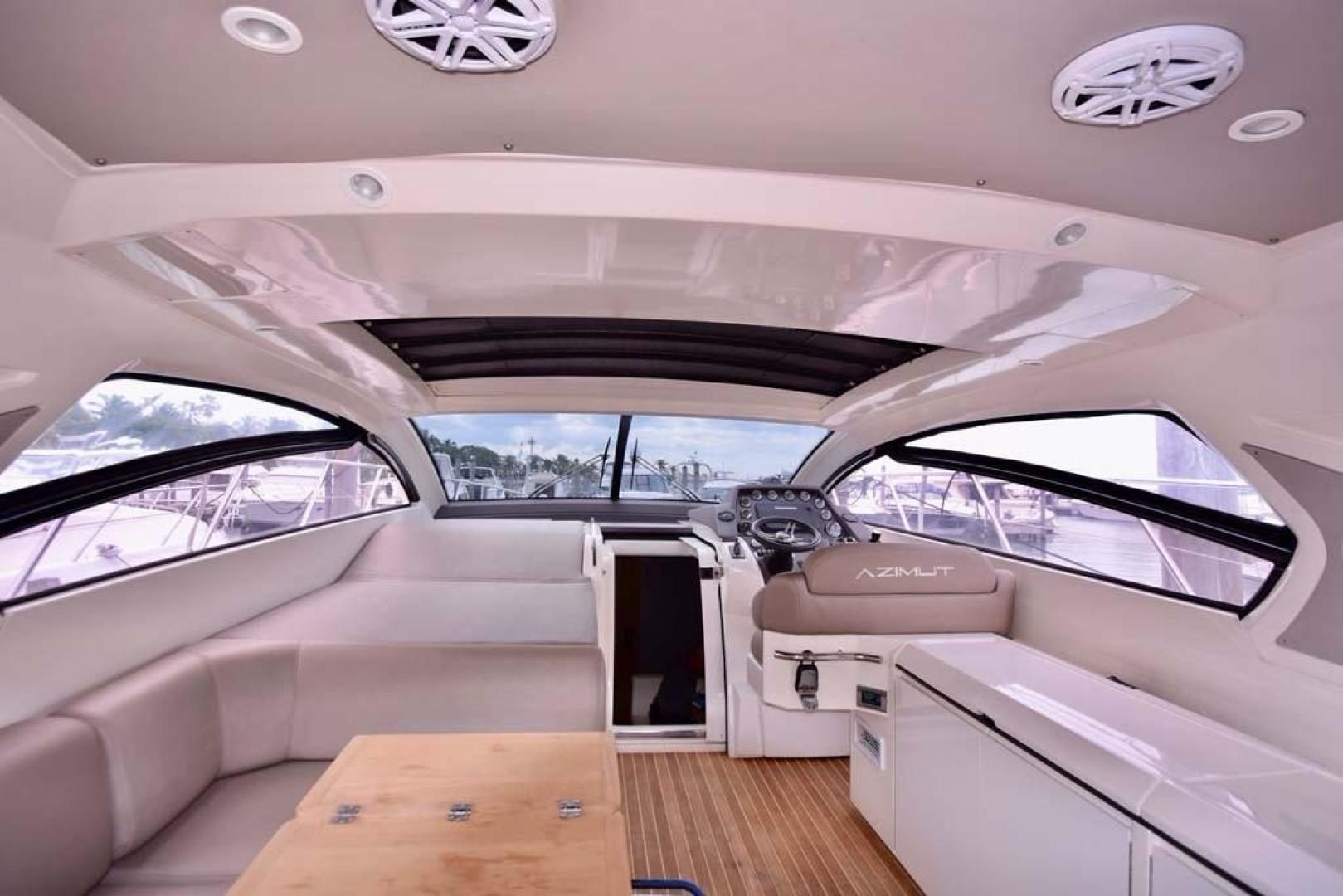Azimut-48 ATLANTIS 2013-Spectrum Miami-Florida-United States-Helm View from Aft Seating-369659 | Thumbnail