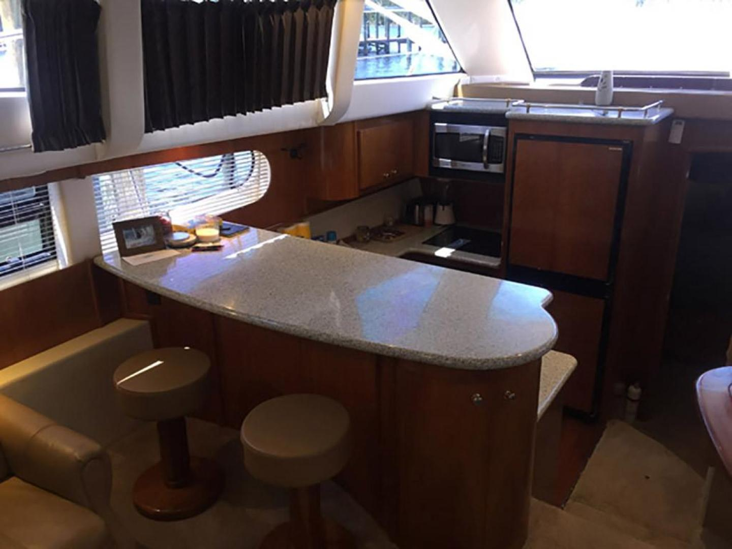 Carver-466 Motor Yacht 2001-Rollin in the Tides Pensacola-Florida-United States-Salon Settee and Two Stools-377476 | Thumbnail