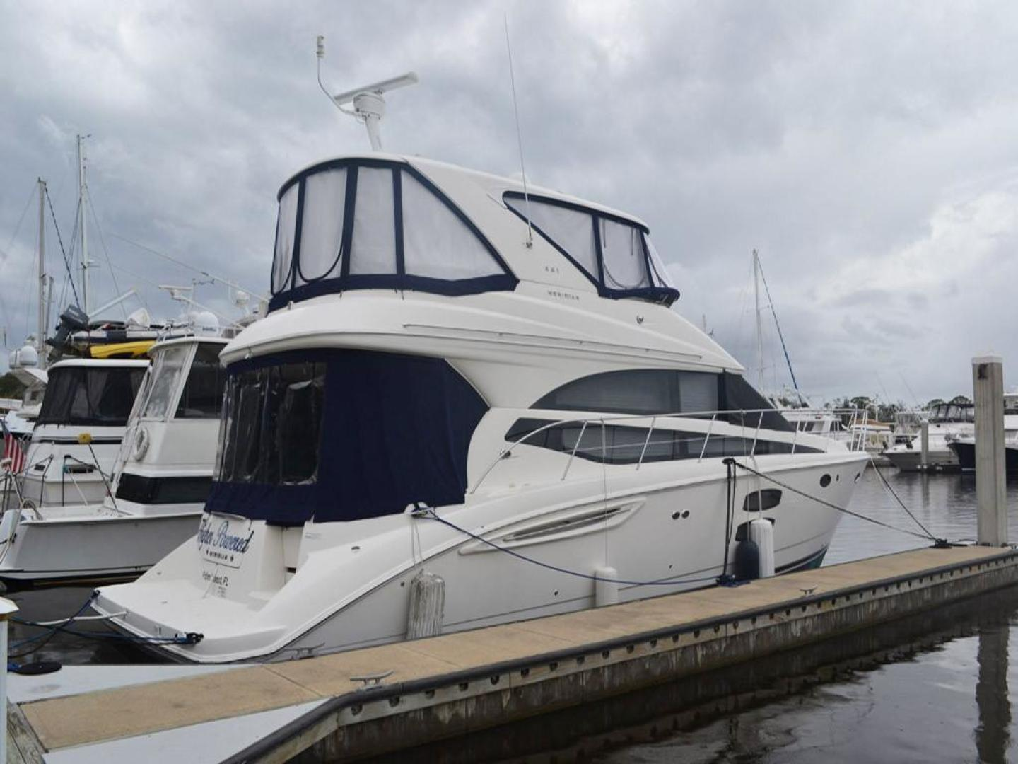 Meridian-441 Sedan Bridge 2012-Higher Powered Palm Coast-Florida-United States-Starboard Profile-141634 | Thumbnail