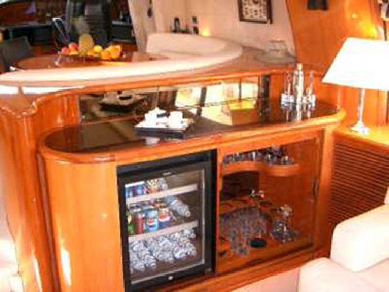 Salon Wet Bar and Refrigerator