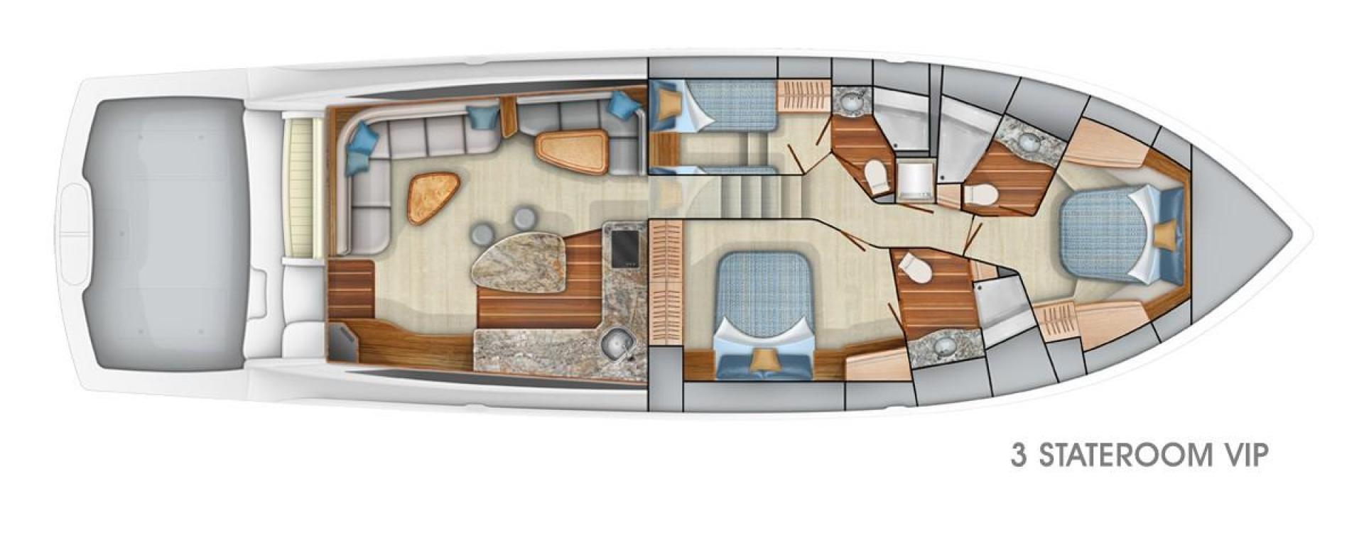 Viking 62 - Option #1 3-Stateroom Layout