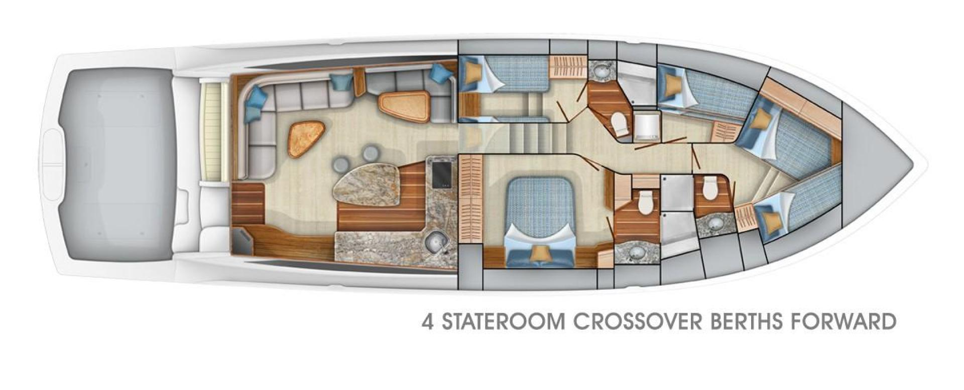 Viking 62 - Option #2 4-Stateroom Layout